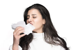 Sneeze. Seasonal Cold. Flu Stock Photography