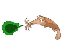 Sneeze squid Royalty Free Stock Images
