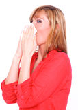 Sneeze woman Royalty Free Stock Photo