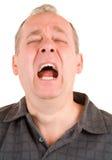Sneezing stock image