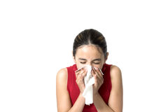 Sneezing Fotografia de Stock