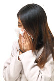 Sneezing asian woman Royalty Free Stock Photos