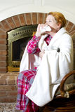 Sneezing e tossir Fotos de Stock Royalty Free