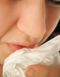 Sneezing flu Royalty Free Stock Images