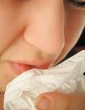 Sneezing flu Royalty Free Stock Images