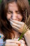 Sneezing girl Royalty Free Stock Photo