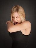 Sneezing Lady Royalty Free Stock Images