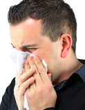 Sneezing Man Royalty Free Stock Photo