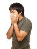 Sneezing man Royalty Free Stock Photos