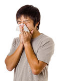 Sneezing man Stock Photos