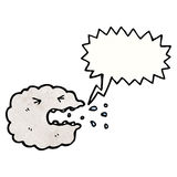 Sneezing raincloud cartoon Royalty Free Stock Photos