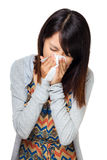 Sneezing woman Royalty Free Stock Images