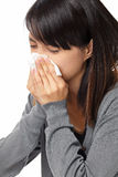 Sneezing woman Stock Photography