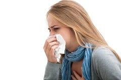 Sneezing woman Stock Photography
