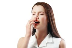Sneezing woman Stock Images