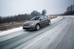 Snel bewegende auto stock foto's