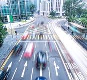 Snel bewegende auto's Royalty-vrije Stock Foto's