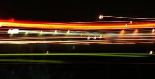 Snel bewegende lichten Royalty-vrije Stock Afbeeldingen