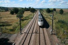 Snel bewegende treinTGV Royalty-vrije Stock Fotografie