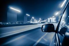 Snel bewegende voertuigen in de stad Stock Afbeelding