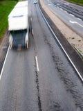 Snel bewegende vrachtwagen Royalty-vrije Stock Afbeeldingen