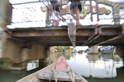 Snel en langzaam in Hoi An-rivier Royalty-vrije Stock Foto's