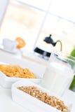 Snel en smakelijk ontbijt stock afbeelding