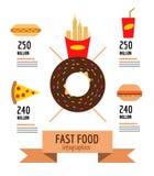 Snel grafische voedselinformatie royalty-vrije illustratie