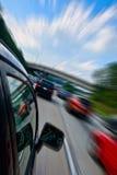 Snel het drijven van de auto Stock Foto