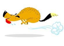 Snel lopende Hond Leuk het rennen huisdier Beeldverhaal het springen hond stock illustratie