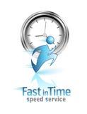 Snel op tijd. Sociaal pictogram Stock Foto