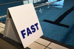 Snel steegteken in zwembad Royalty-vrije Stock Foto's