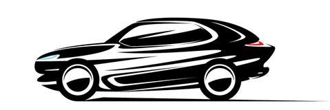 Snel SUV-autosilhouet Royalty-vrije Stock Afbeeldingen