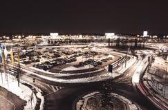 Snel verkeer in de nacht Royalty-vrije Stock Afbeelding