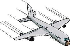 Snel Vliegtuig Stock Foto