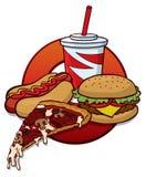 Snel voedsel stock illustratie