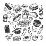 Snel voedsel Stock Afbeeldingen
