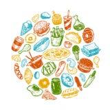 Snel Voedsel, Cirkel Royalty-vrije Stock Fotografie