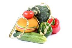 Snel voedsel en dieetvoedsel royalty-vrije stock foto's