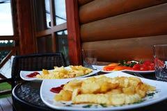 Snel voedsel Geïsoleerds beeld met het knippen van weg heerlijk Stock Foto