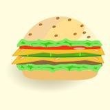 Snel voedsel, hamburger Stock Afbeelding