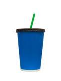 Snel Voedsel het Drinken Kop Isoleted op Wit, het Knippen Wegen Royalty-vrije Stock Afbeelding