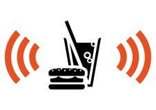 Snel voedsel met wi-FI Royalty-vrije Stock Afbeelding