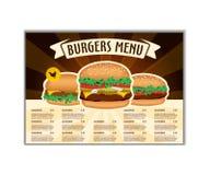 Snel voedsel of van de burgersvlieger ontwerpmalplaatje in A4 grootte Brochure en Lay-outontwerp stock illustratie