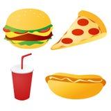 Snel voedsel vastgestelde vector Royalty-vrije Stock Fotografie