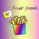 Snel voedselaardappels Royalty-vrije Stock Fotografie