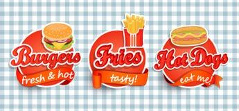 Snel voedseletiket Stock Afbeeldingen