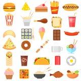 Snel Voedselpictogram stock illustratie