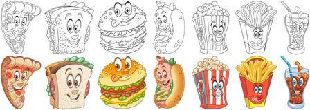 Snel voedselreeks vector illustratie