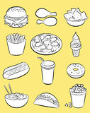 Snel voedselreeks stock illustratie